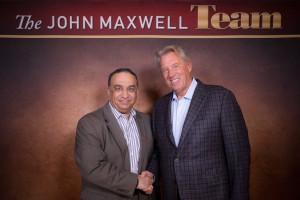 Raj with John Maxwell