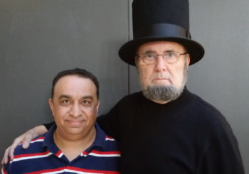 Raj speaking with Abraham Lincoln (Leon Skinny McKinney) – Video