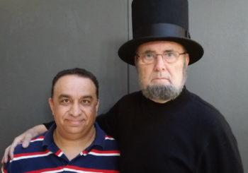 Raj speaking with Abraham Lincoln (Leon Skinny McKinney) – Video